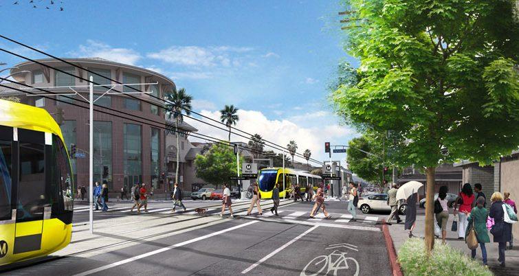 LACMTA Board approves light-rail option for East San