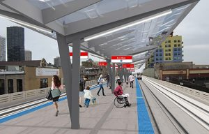 Rendering of Chicago subway modernizaton