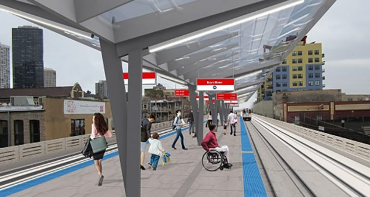 Rendering of Chicago subway modernizaton