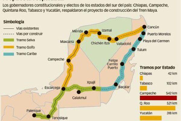 Maya Train proposed map