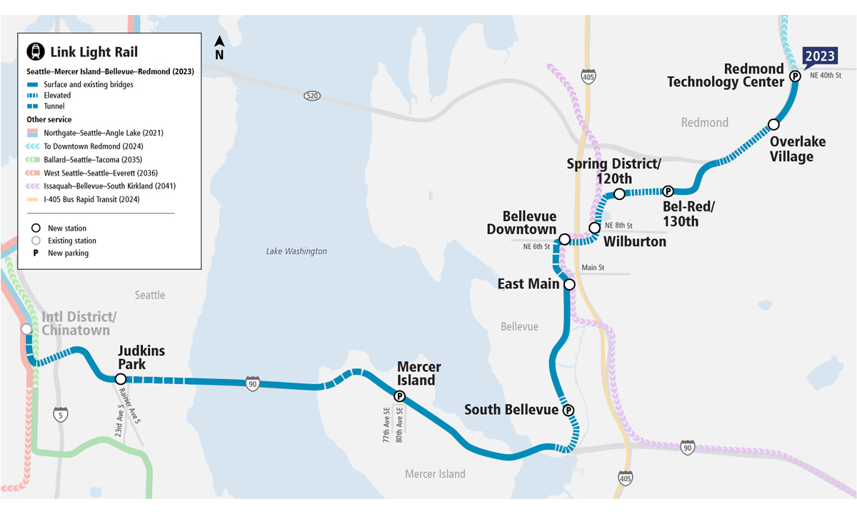 First Section Of Sound Transit East Link Rail Installation Nearly