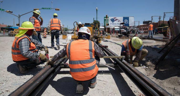 RailWorks construction in El Paso