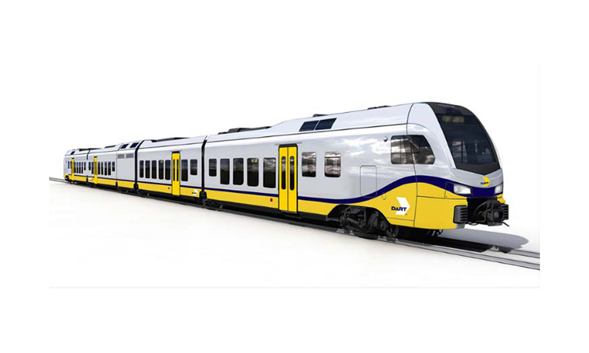 DART orders FLIRT Trains from Stadler US - Railway Track and Structures